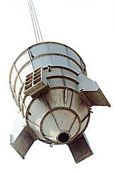 Assembly of a preheater cyclone for a four stage pre-heater